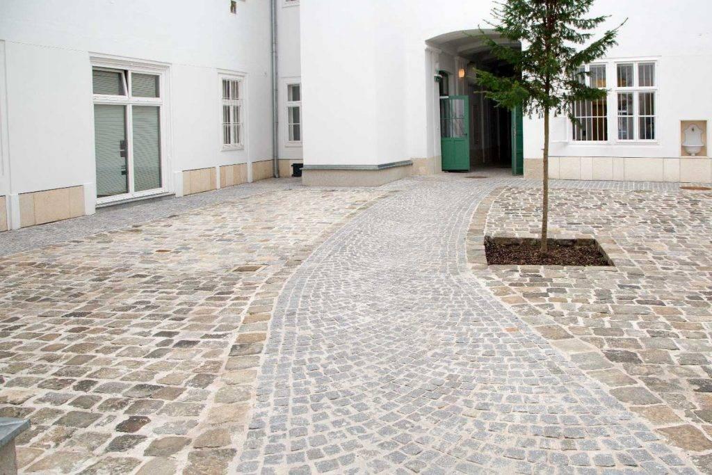 Kopfsteinpflasterwege