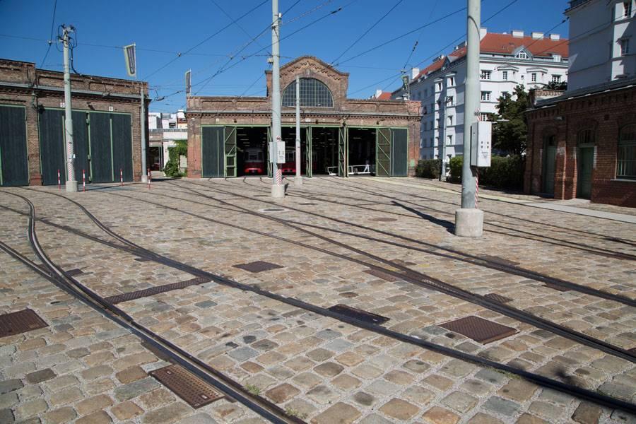 Kopfsteinpflaster Straßenbahn
