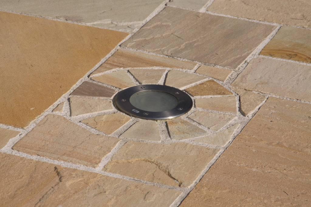 Sandstein Pflasterfläche Detail
