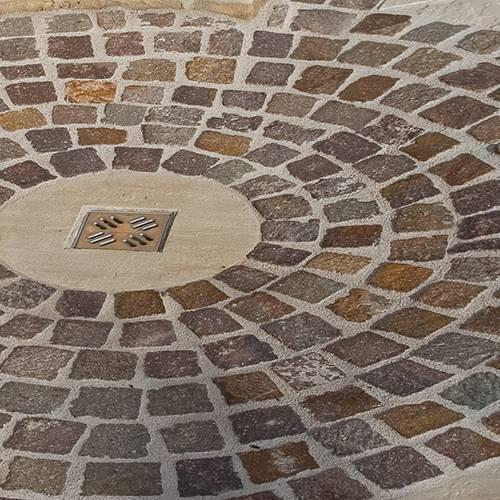 Kopfsteinpflaster aus Porphyr